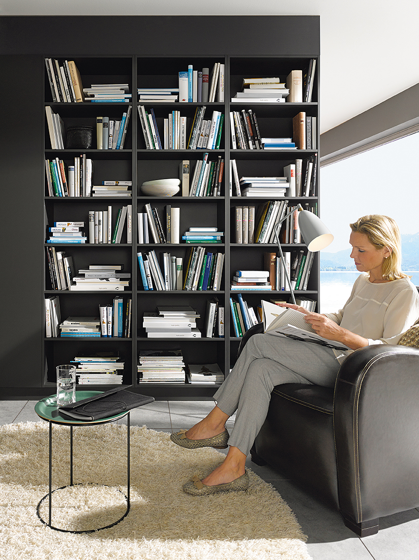 Featured Open Shelving Lava Black Satin