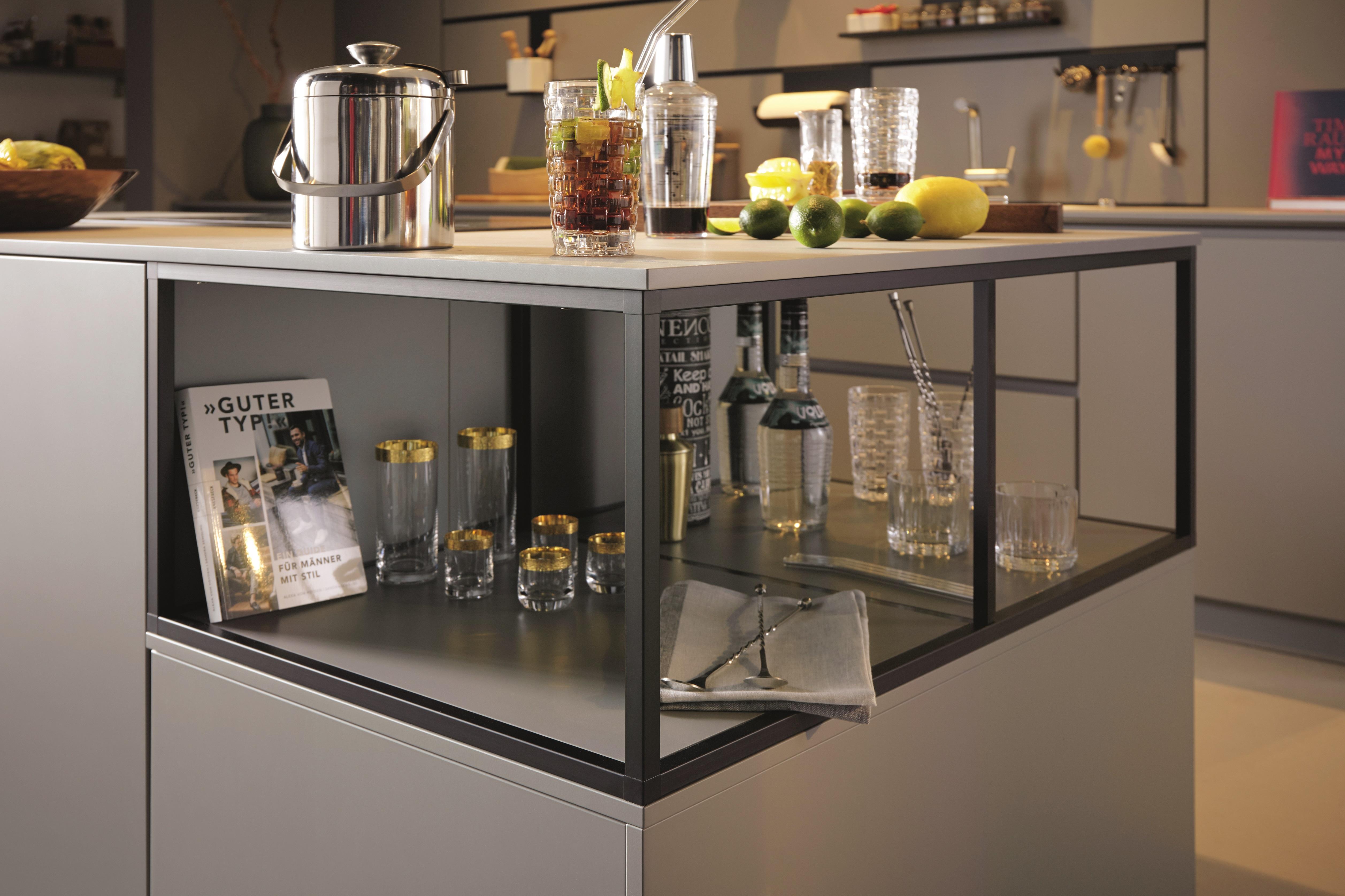 Siena Agate Grey featured open shelf