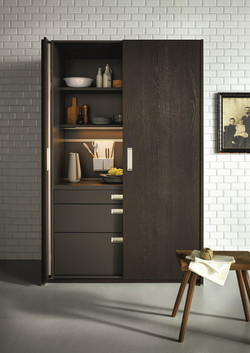 Next 125 NX620 Featured Pocket Door Graphite Knotty Oak Brushed