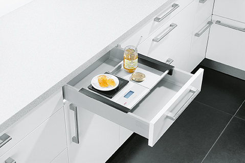 4 Drawer Box Integrated Scales