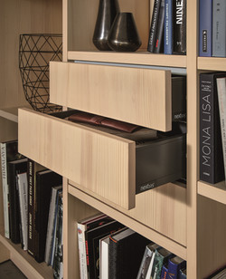 Next 125 NX620 Featured Open Shelving Draws Natural Fir Brushed