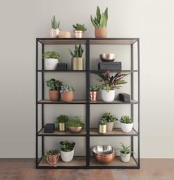Targa Steel Dark Featured open shelf