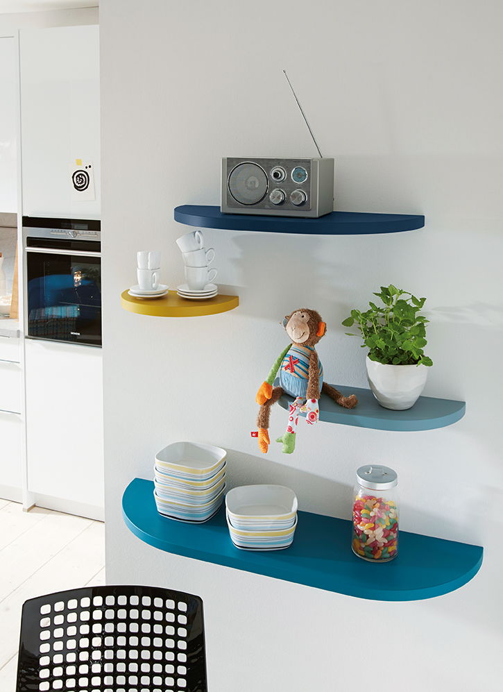 Featured Satin Laquer Shelves