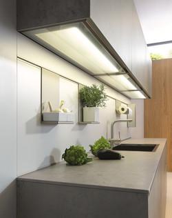 Next 125 NX950 Featured Glass Bottom LED Lit Wall Unit