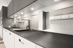Next 125 NX902 Glass Matt Stone Grey Featured Wall Panel System