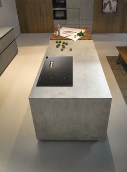 Next 125 NX950 Ceramic Concrete Grey Island 1