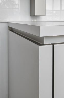 Next 125 NX902 Glass Matt Polar White Featured End Panel