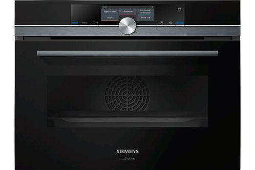 Siemens iQ700 Compact oven with Microwave CN878G4B6B - Black Edition
