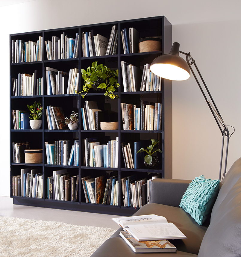 Indigo Blue Open Shelving