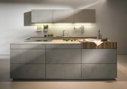 Next 125 NX950 Ceramic Concrete Grey Island