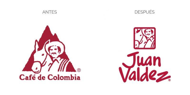 Rebranding o rediseño de logo de Juan Valdez o Café de Colombia