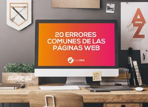 20 Errores comunes en las páginas web