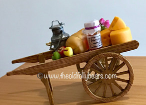 Petal's cart...we are off to the market!