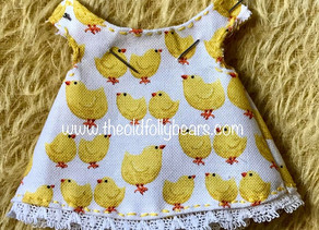 Little chicks all in a row