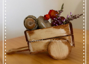 Hazel the bears rustic cart...