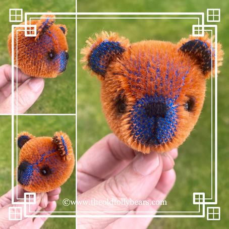 Rust/Royal Blue Bear...