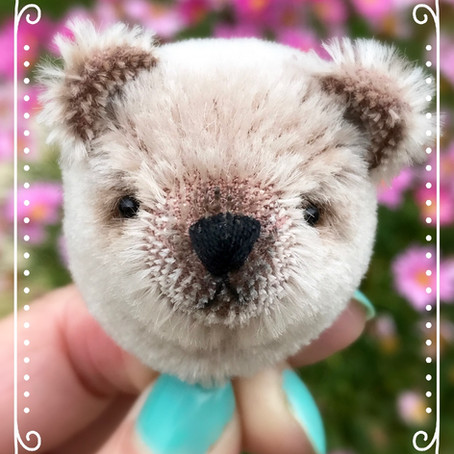Rose-Marie bear in progress