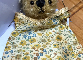 New Bear with Liberty fabric...