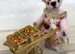 Verity, strawberries & cart...