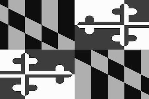 Gray Scale Maryland Flag