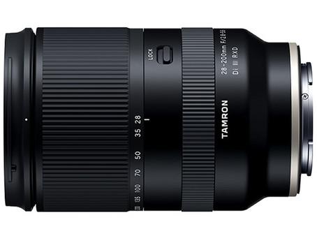 Tamron 28-200mm F/2.8-5.6 Di III RXD A071鏡頭Firmware 2.0更新通知