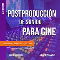 MASTERCLASS postproduccion sonido CINE_0