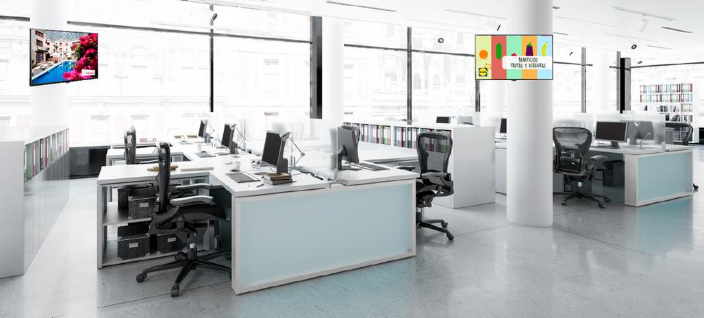 Señalización digital en oficinas