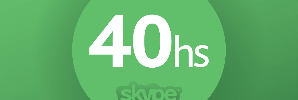 SKYPE COURSE  - PACKET: 40 HOURS