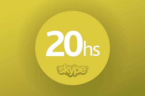 SKYPE COURSE  - PACKET: 20 HOURS