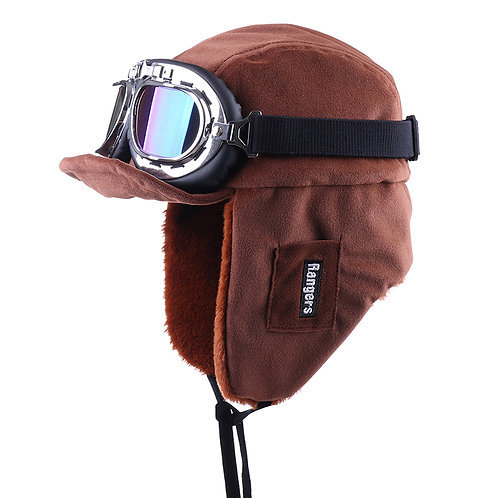 Bomber Hats with Ear-flaps with Goggles