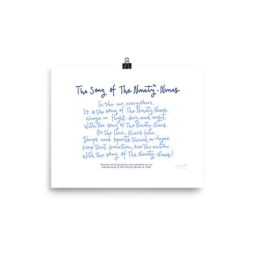 The Song of The Ninety-Nines: Poster