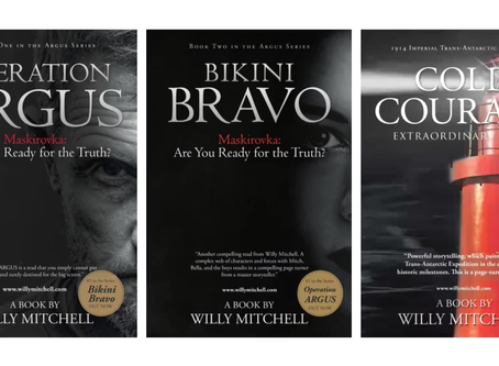 Animated Book Covers: Operation ARGUS, Bikini BRAVO, Cold COURAGE: OUT NOW
