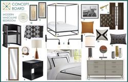 Modern Master Bedroom Concept Board