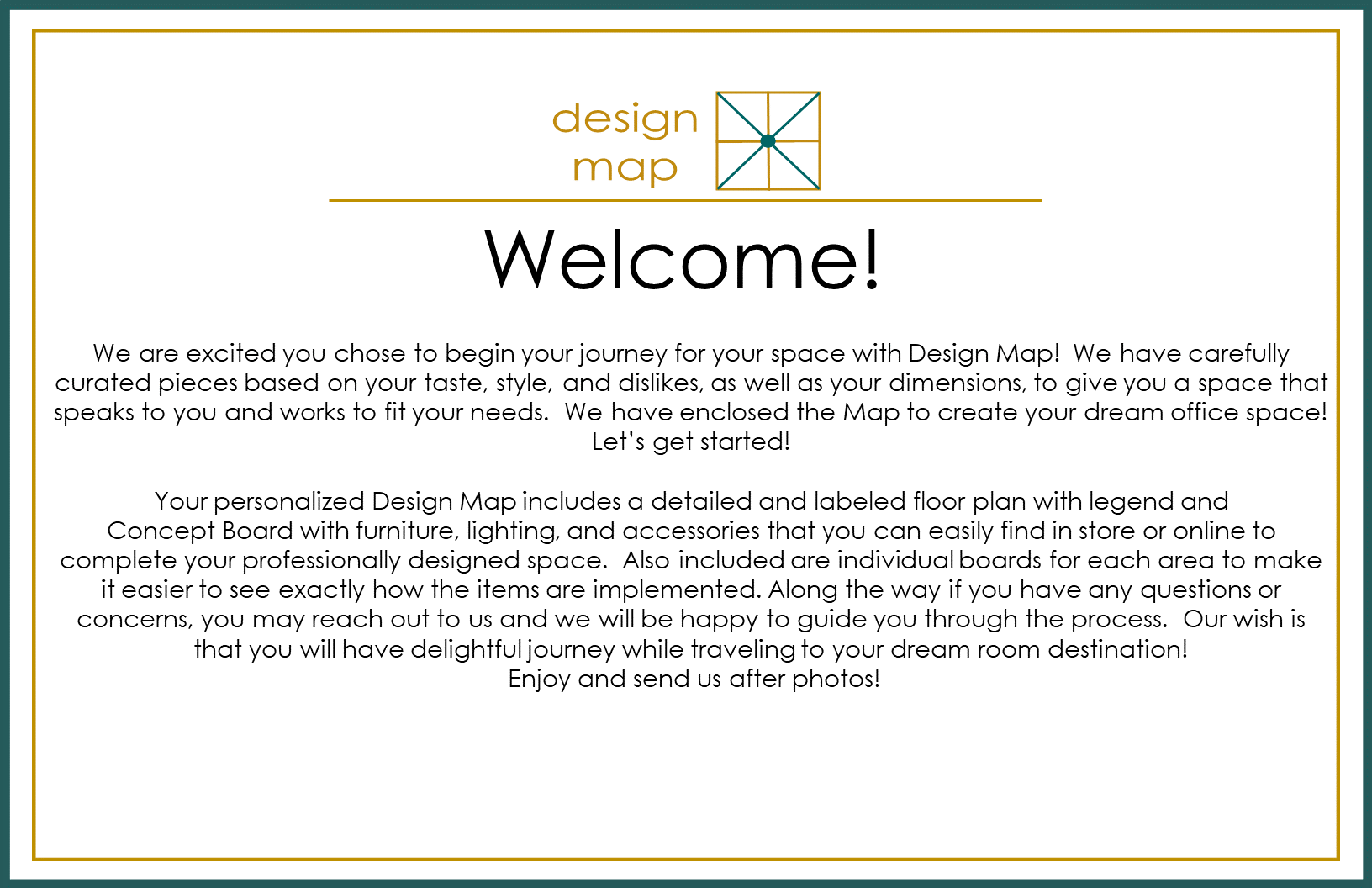DESIGN MAP WELCOME