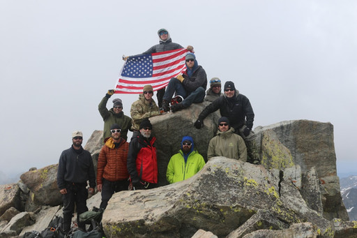 Warriors in the Winds 2017 on the summit