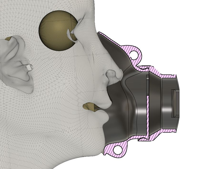 VAC BAG ADAPTER crossection