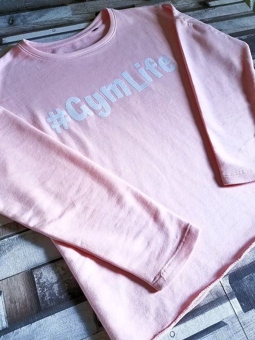 Ladies Oversized Personalised Hashtag Sweatshirt