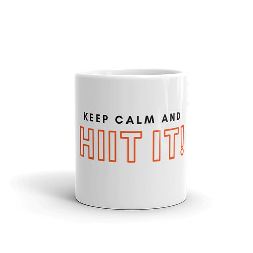 Keep Calm And HIIT IT! Mug (block font)