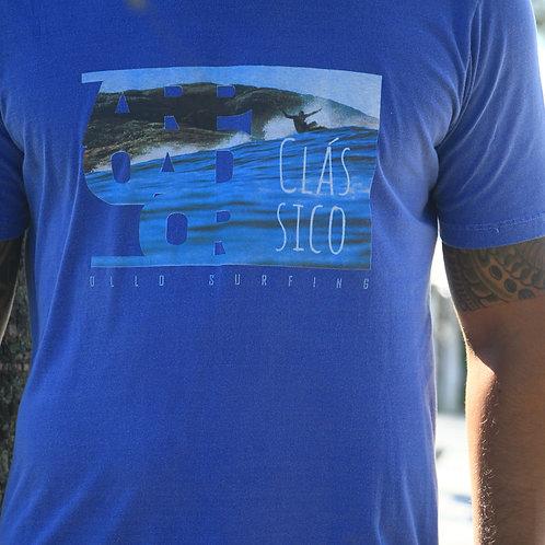 Camiseta Azul Estonada Arpoador Clássico