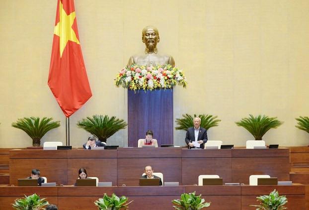 Quang cảnh phiên họp Quốc hội Việt Nam thảo luận về công tác công tác phòng, chống tham nhũng, ngày 26/10/2020.