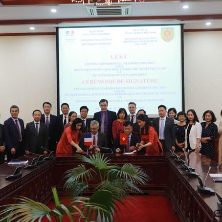 Ký kết Chương trình hợp tác giai đoạn 2021 – 2023 giữa Bộ Tư pháp Việt Nam và Bộ Tư pháp Pháp
