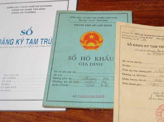 Hình minh hoạ. Sổ hộ khẩu ở Việt Nam