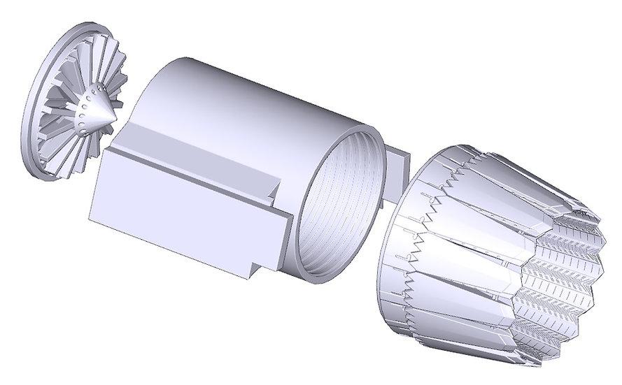 48001 F-35A Exhaust nozzle Meng