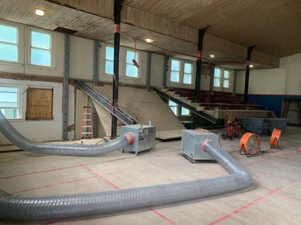 FUMC Dallas Third Floor Gymnasium Concrete Bleacher Demo and Removal