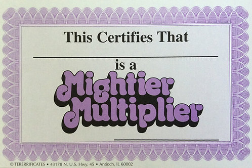 Mightier Multiplier Certificates