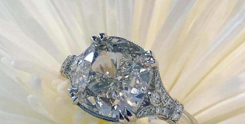 Platinum 6ct diamond ring