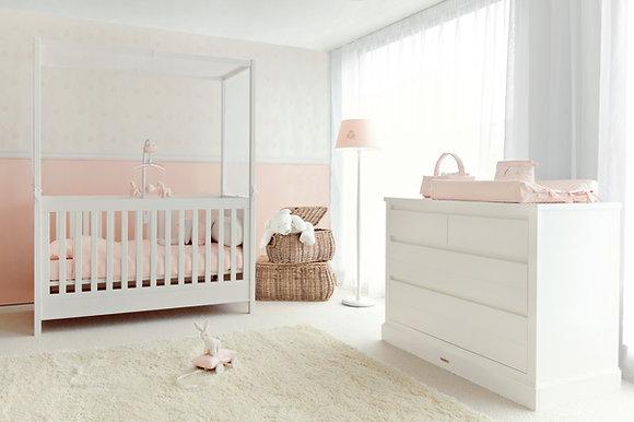 Théophile et Patachou Baldaquin chambre bébé
