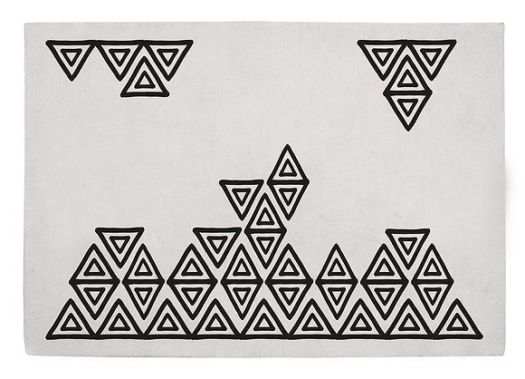 Lilipinso Black and White Triangle Tapis