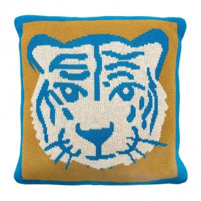 MimiLou Tiger Coussin Tricot