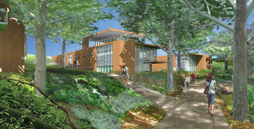 Chatham University Student Housing Rendering